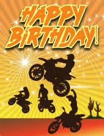 dirtbikes small birthday card