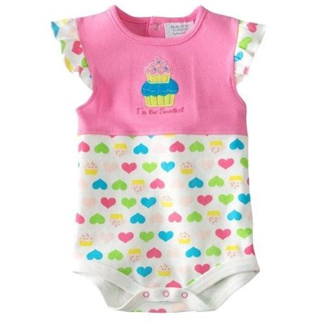 Baby Romper Bon Bebe bon bebe baby one creeper pink cupcake size 0 3 months bon bebe http www