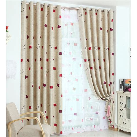 beige and red gingham print polyester insulated bedroom