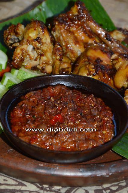 Sambal Terasi Api diah didi s kitchen ayam bakar bumbu bacem khas yogya