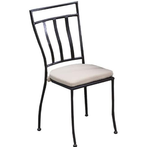 Wrought Iron Bistro Chairs Alfresco Home Semplice Wrought Iron Bistro Chairs With Cushions Charcoal Set Of Two