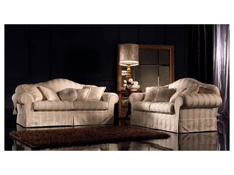 traditional upholstered sofa upholstered with different
