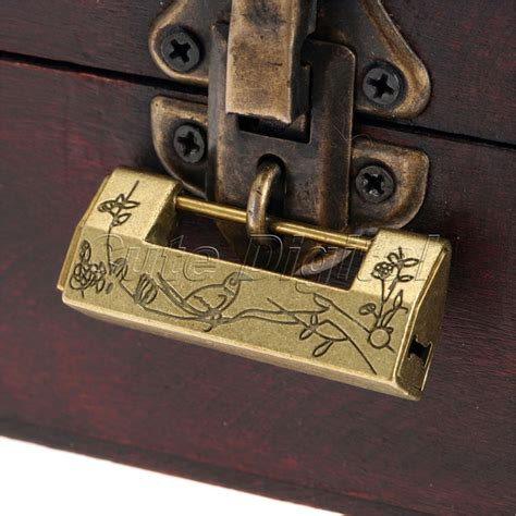 1PC Alloy Antique Bronze Chinese Old Decorative Lock Jewelry Chest Box Lock Padlock for Wooden