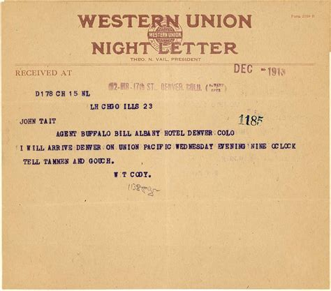 authorization letter western union william f archive documenting the and times of