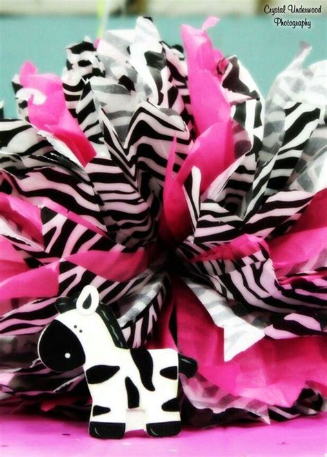 Zebra Table Decorations Baby Shower Party Ideas Zebra Centerpieces For Tables