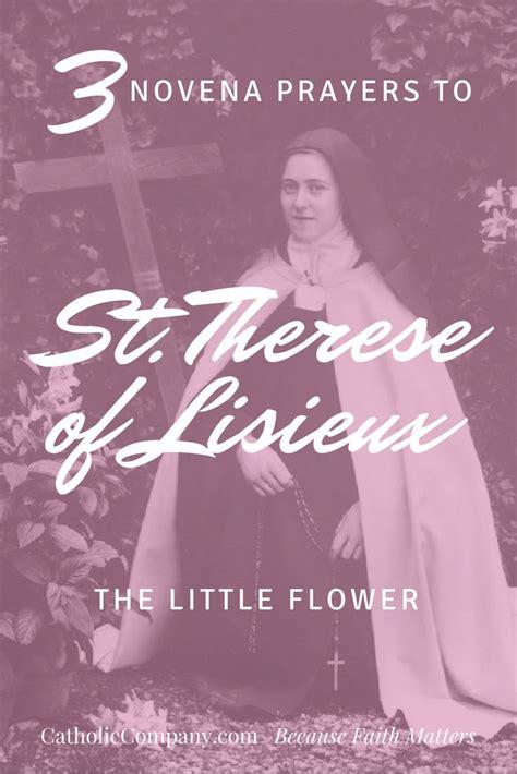 st novena three popular novena prayers to st therese of lisieux