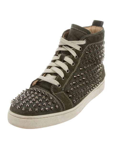 christian louboutin louis flat spike sneakers shoes cht65337 the realreal