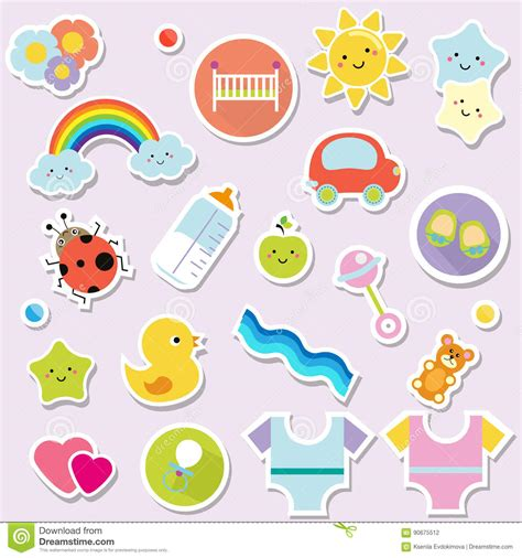 kids designs baby stickers kids children design elements for