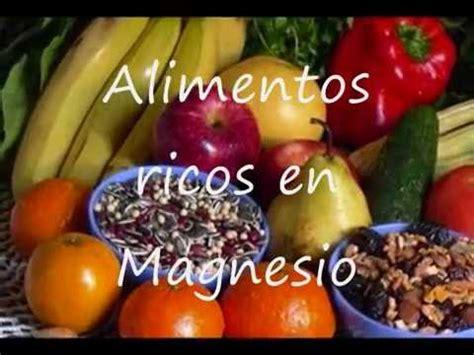 alimentos que tengan magnesio alimentos ricos en magnesio
