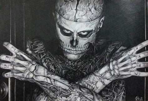 zombie boy colored pencil painting by can727 on deviantart