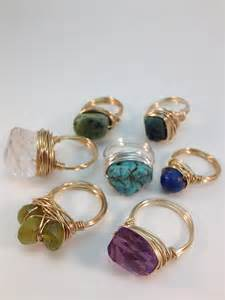 Jewelry Making Classes Dallas - wire wrapped rings beads of splendor
