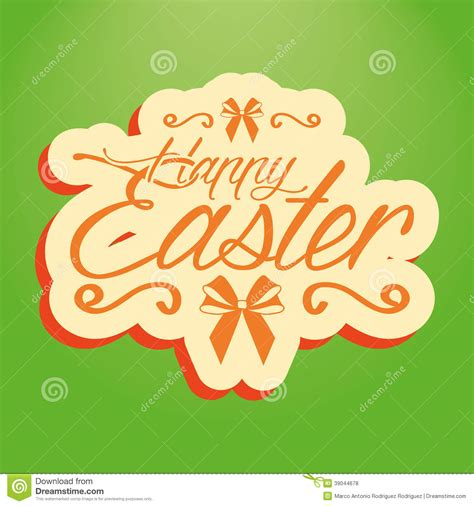 Happy Easter Card Template by Happy Easter Template For A Card Stock Vector Image