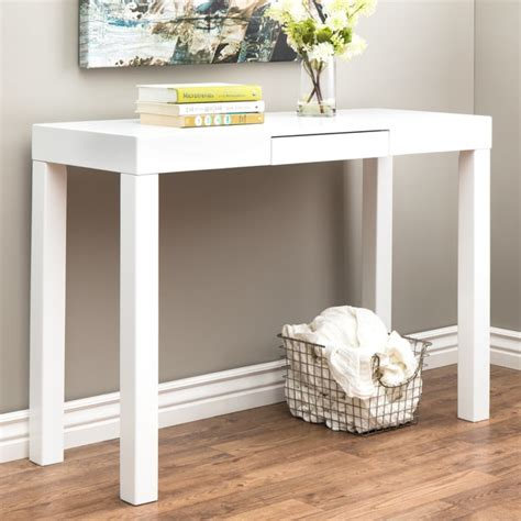 lachlan glossy white sofa table free shipping today