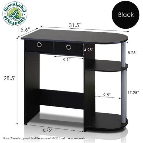 Green Computer Desk Furinno 11193bk Gy Bk Go Green Home Laptop Notebook Computer Desk Table Black G Ebay