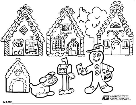 Gingerbread House Coloring Pages To Download And Print For Gingerbread House Color Page