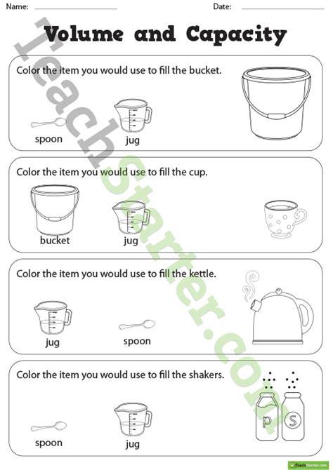 Capacity all worksheets 187 capacity worksheets grade 4 printable