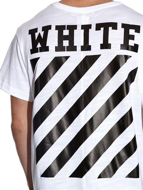 lyst  white  virgil abloh logo printed cotton