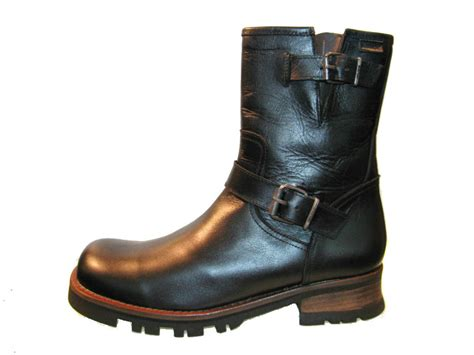 classic biker boots mens motorcycle boots vintage black leather engineer biker