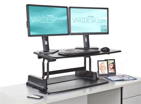 turn desk into stand up desk convert existing desk to standing best home design 2018