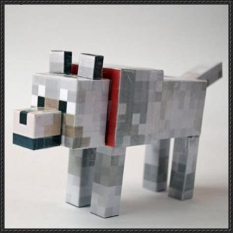 Minecraft Papercraft Models - papercraftsquare new paper craft minecraft wolf