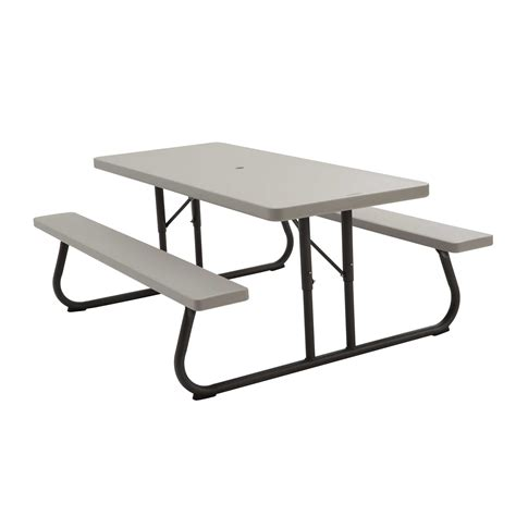 lifetime bench table lifetime 22119 picnic table and benches 6 foot putty putty