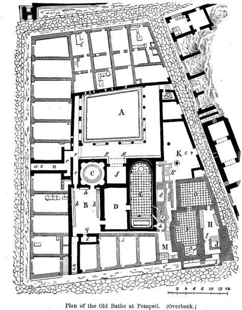 layout of pompeii house classical archaeology thermae of pompeii