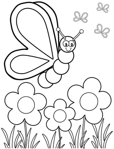 spring printable coloured flowers spring flower coloring pages coloringsuite com