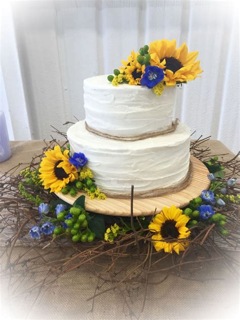 Home Decorating Forum Sunflower Wedding Cake Cakecentral Com