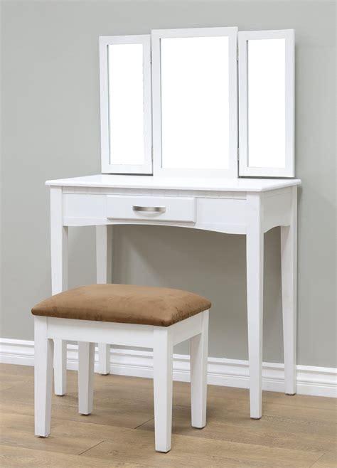 frenchi 3 folding mirror vanity set dresser with
