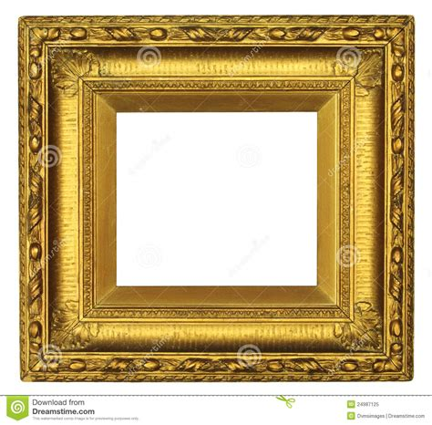 antique gold picture frame royalty  stock photo