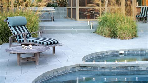 Backyard Paver Patio Landscaping Ideas With Stone Sunset