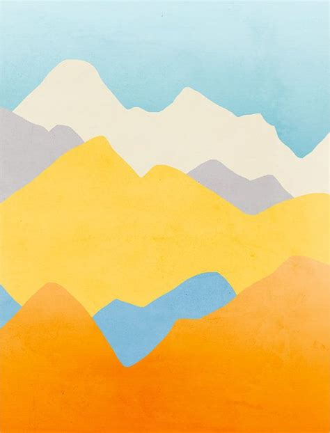 minimalist mountains modern wall art minimalist posters abstract landscape by