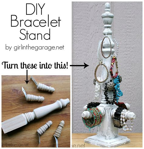 diy tiered stand from thrift store pieces in the garage 174