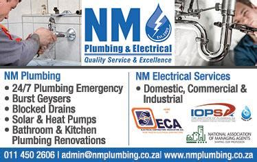 Plumbing Electrical Services by Nm Plumbing Electrical Cc Germiston Cylex 174 Profile