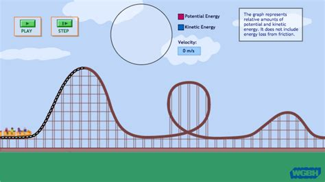 Potential And Kinetic Energy Roller Coaster Worksheet