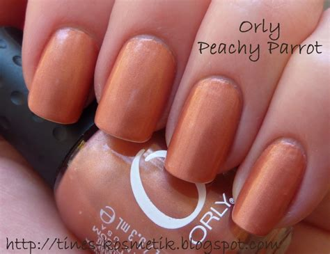 Orly Peachy Parrot tines kosmetikblog orly peachy parrot