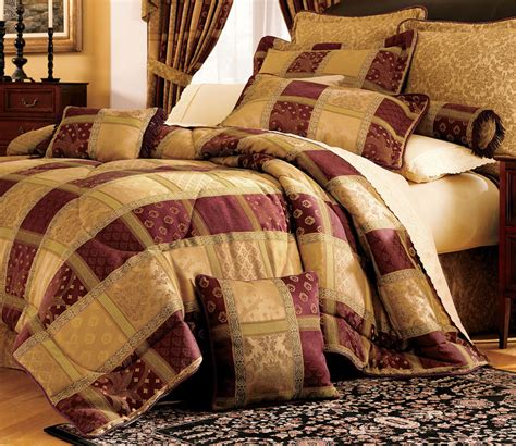 maroon jewel patchwork comforter bed in a bag twin