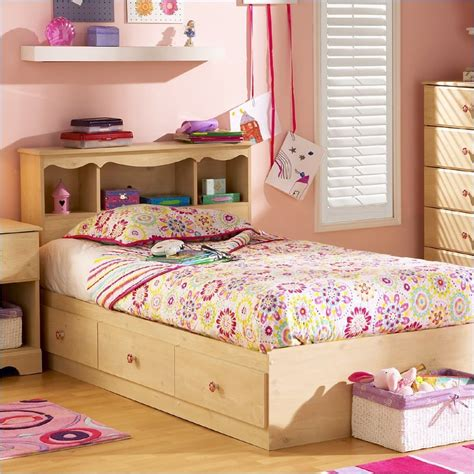 twin bed frames for kids south shore lily rose kids twin 3 drawer storage frame only pine finish bed