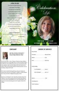 obituary guide template 73 best printable funeral program templates images on