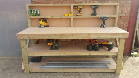 mdf wooden work bench ft  ft work table hand