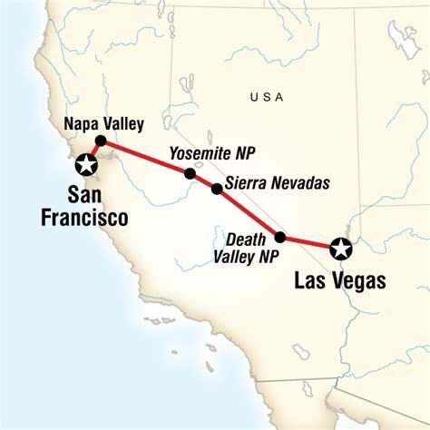 map san francisco to napa valley yosemite park napa valley san francisco to vegas in