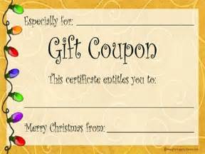 the use of printable and digital gift coupon gift coupon