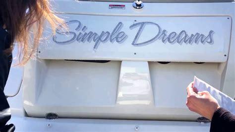 island boat lettering island boat lettering installation of vinyl lettering