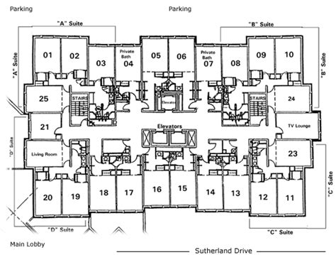 dorm floor plans university of pittsburgh housing services