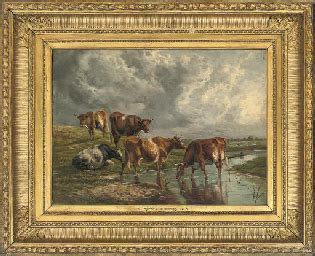 circle  thomas sidney cooper   cattle
