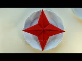 Weihnachtsservietten Basteln Napkin Folding Christmas Star How To Fold Napkins For