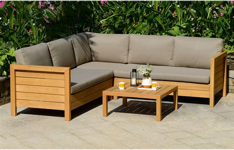 wooden outdoor sofa sets garden lounge set teak home furniture out out