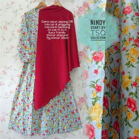 Gamis Katun Jepang baju gamis katun jepang b020 nindy syari busana muslim