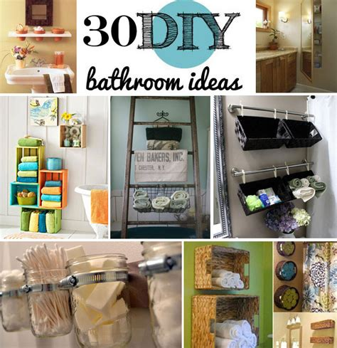 diy decorating ideas for bathrooms 30 brilliant diy bathroom storage ideas