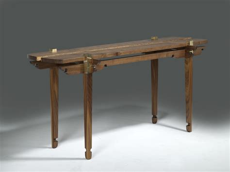 handmade walnut console table by wilson furniture